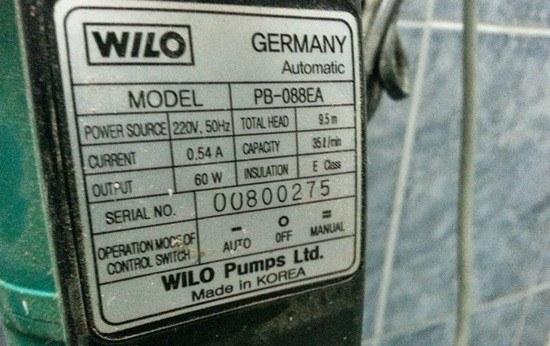Thông số kỹ thuật máy bơm nước gia đình