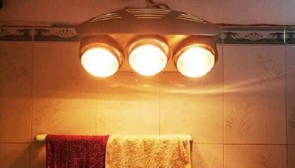 Đèn sưởi nhà tắm loại 3 bóng