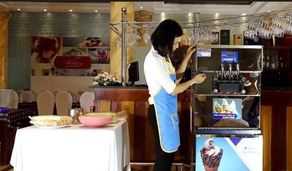 Kiểu dáng và chất liệu máy làm kem